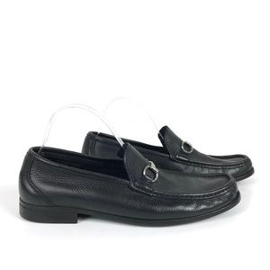 Sandro Moscoloni Leather Bit Black Loafer